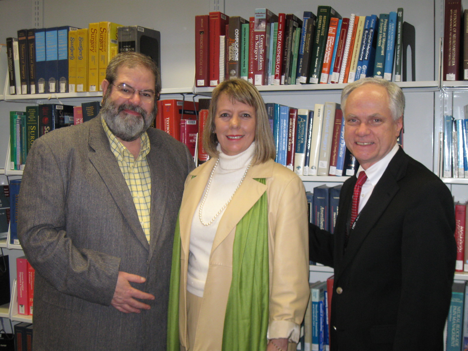 Dr. Hoppmann with Dr. and Mrs. William Lindler