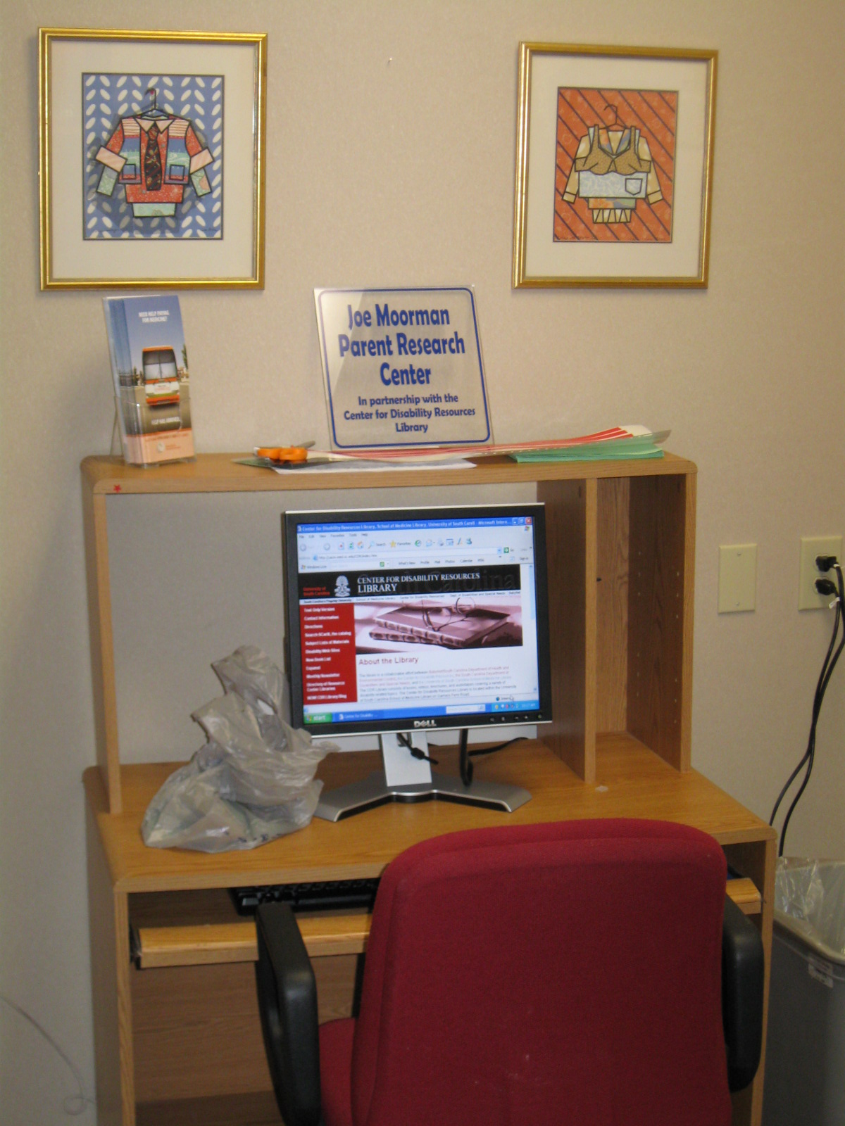 Parent research workstation at the Family Center